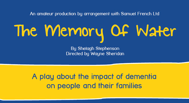 Page header graphic for fundraising Memory of Water Dementia play at Beckenham Theatre