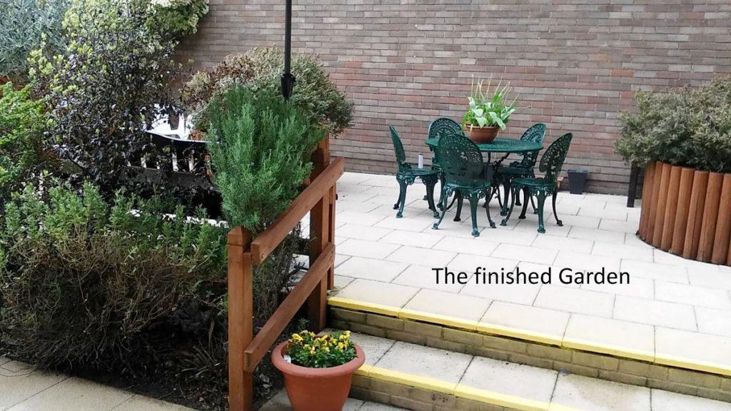 The refurbished garden at Orpington MindCare