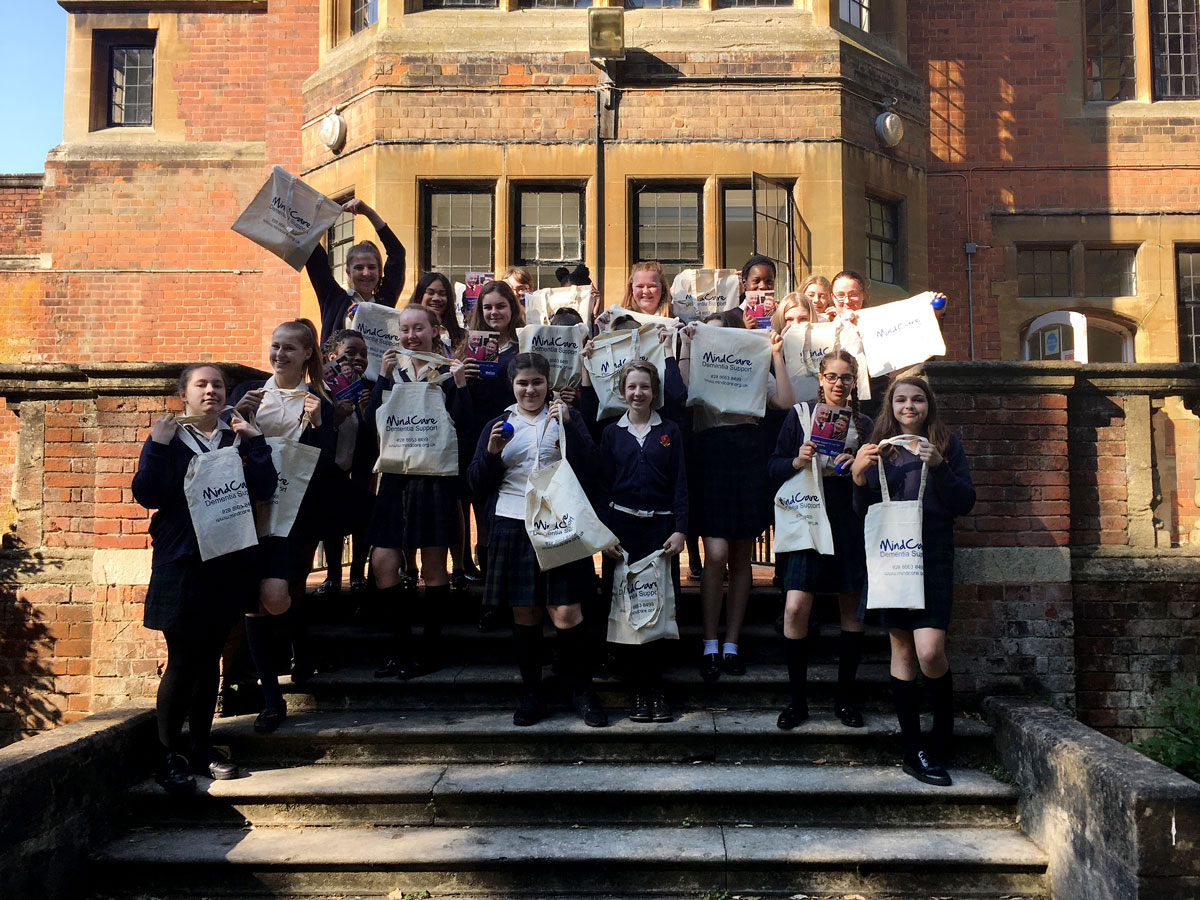 Bullers Wood students on steps