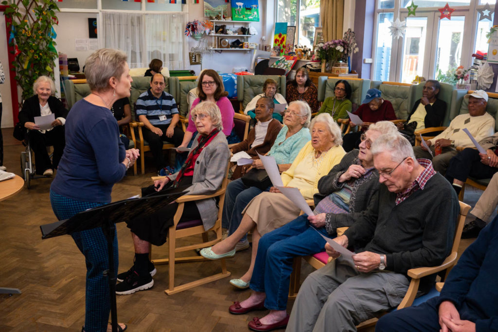 People with dementia singing as part of the MindCare Dementia Choir