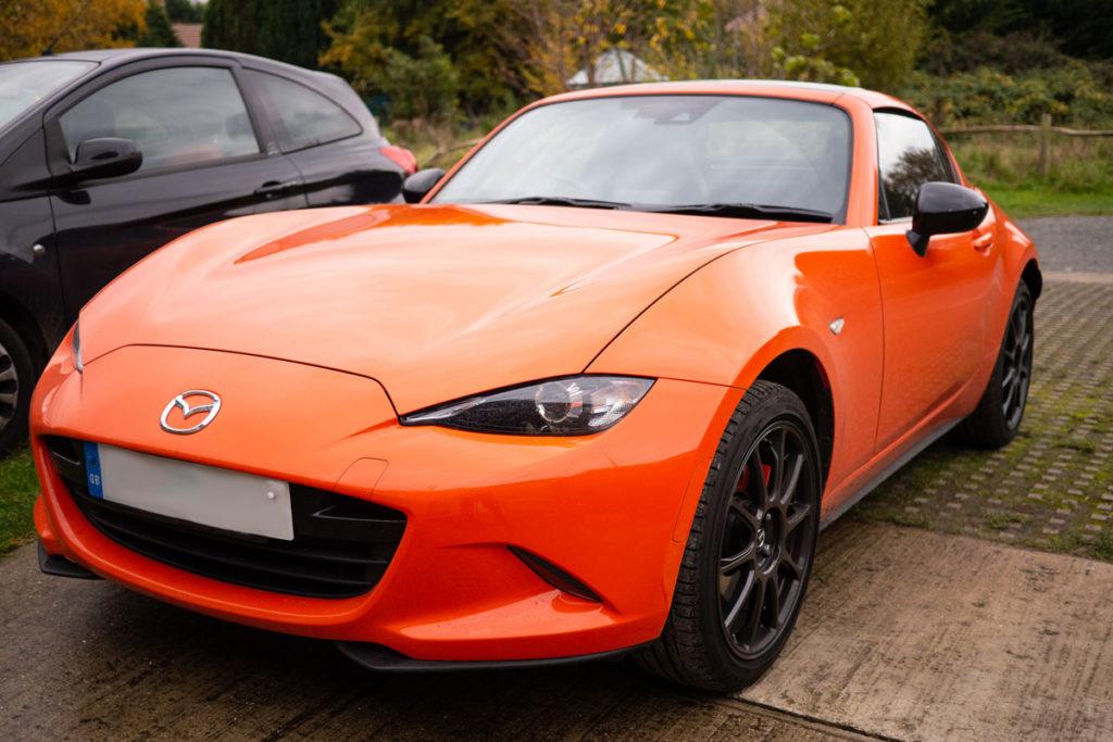 Orange Mazda MX-5 30th anniversary special edition