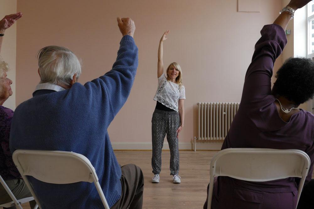 MindCare Dementia Cafe exercise class in Beckenham