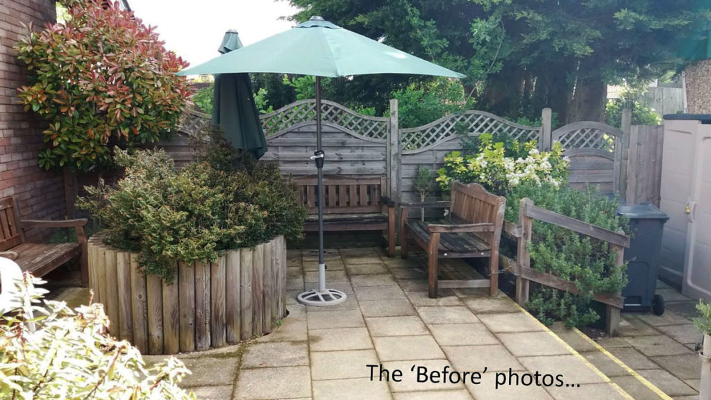The Orpington MindCare Dementia Support garden before the VINCI refurb