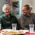People laughing at dementia summer party