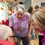 people at dementia summer party in Orpington