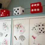 Las Vegas dice and cards theme display