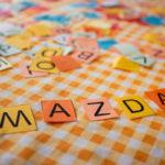 letters spelling Mazda