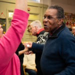 Man with dementia dancing at MindCare Christmas Party